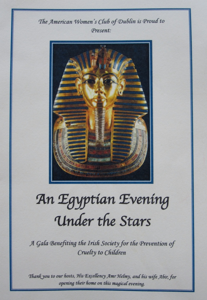 Egypt, Egyptian Ambassador, Charity Event, American Women's Club of Dublin