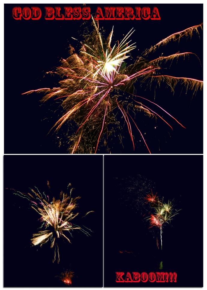 Fireworks, America, Lake, Weekend