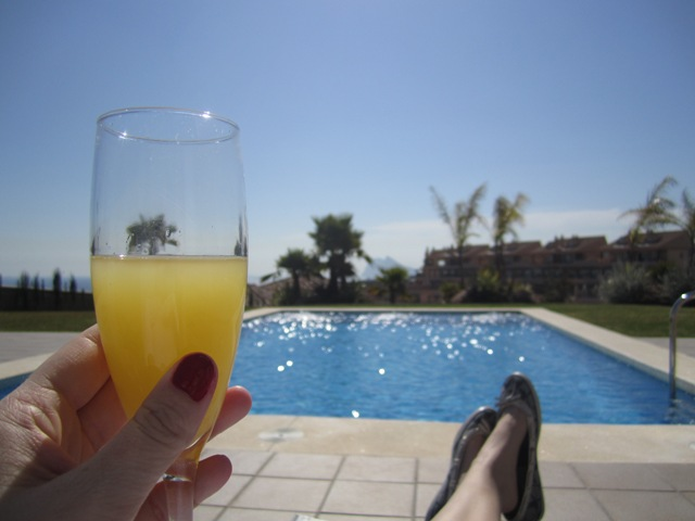 Brunch, Mimosa, Nail Polish, Bacon, Strawberries, Pool, Sunshine