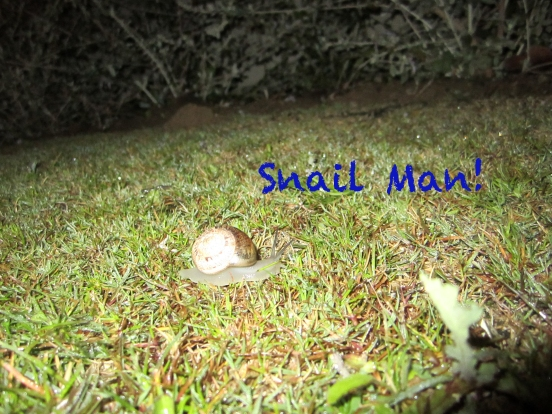Snail Man, Spain, Alcaidesa, Bob and Tom