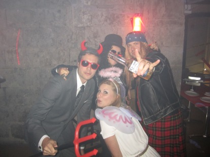 Costumes, Company, Party, Devil, Angel